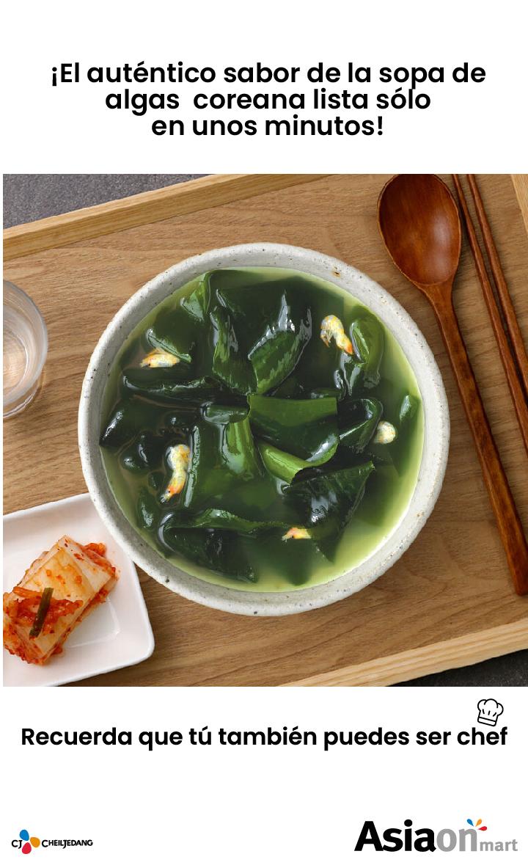 gran sabor CJ Cupbahn Sopa de Algas
