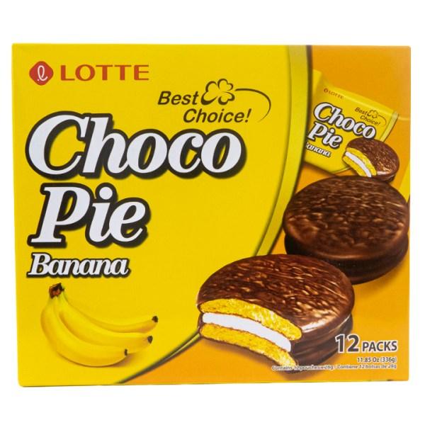 Lotte Choco pie banana 12pzs