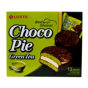 Lotte Choco pie matcha