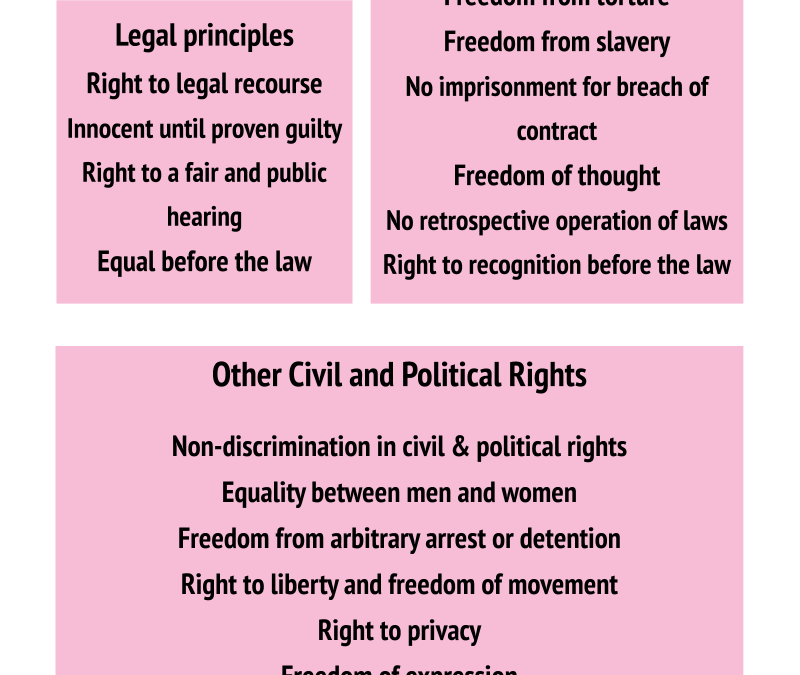 KNOW YOUR RIGHTS// Civil and political rights and what they mean for us