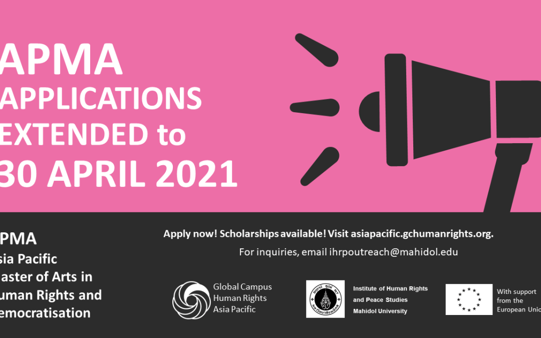 APMA Applications extended to 30 April 2021