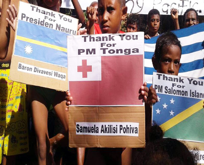 The community in West Papua acknowledged the support shown by the Pacific leaders at the UN General Assesmbly this year. Image: The West Papua National Authority