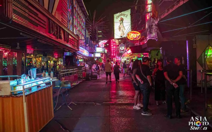 The infamous Soi Cowboy red light district is all but deserted the night before Thailand ordered all bars, pubs, dance clubs and entertainment venues closed to stem the tide of infections from the Covid-19 coronavirus. The bars will remain shut through at least April 30.