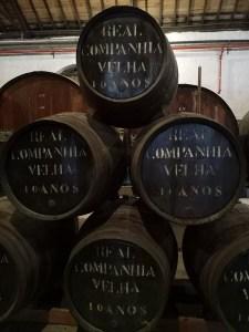 Beczki z Porto w Real Companhia Velha
