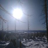 zima naRomance, śnieg isłońce