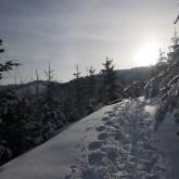 szlak wBeskidach, zima iśnieg