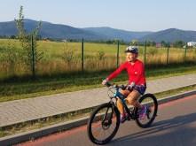 rower, dziewczyna, nauka jazdy
