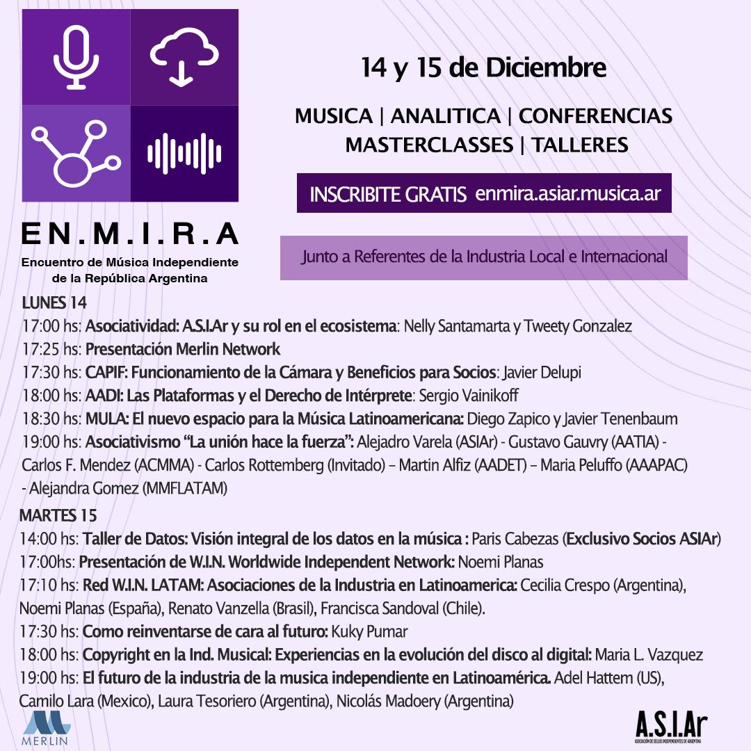 musica independiente,asiar,capacitacion,marketing,digital,estrategia,encuentro,musica,independiente,argentina,enmira,merlin,indies,sellos,sellos discograficos