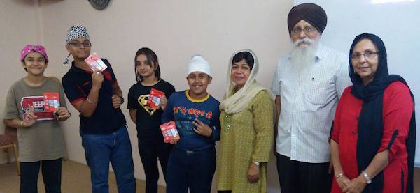 Creative Story Writing winners for Form1-3 category posing with CMSO secretary general Autar Singh (second from right) and trainers Thevy Subramaniam (third from right) and Satwant Kaur. - Photo courtesy of CMSO