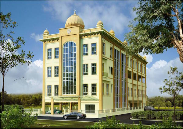 A sketch of Gurdwara Sahib Subang.The ground-breaking ceremony was done on Jan 5, 2015