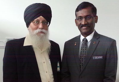 Autar Singh (left) and P Kamalanathan