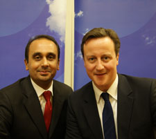 Paul Uppal (left) with his Conservative Party boss David Cameron. Paul lost in the 2015 elections. - PHOTO COURTESY OF PAUL UPPAL WEBSITE