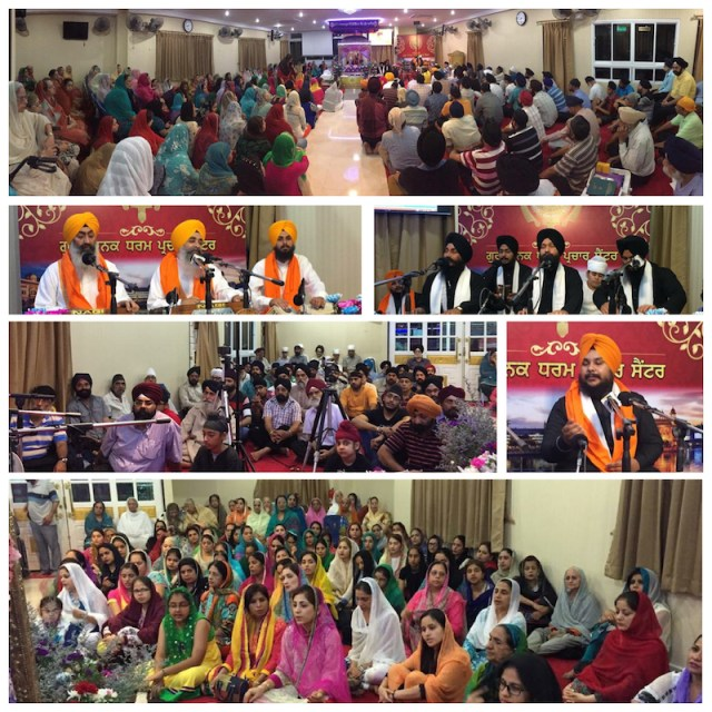 Bangkok Sikhs evening programme called Alokik Kirtan Darbar on 31 May 2015.