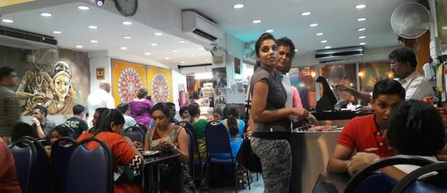 RANDOM SCENE: The crowd at an Indian restaurant in Brickfields, Kuala Lumpur - PHOTO ASIA SAMACHAR