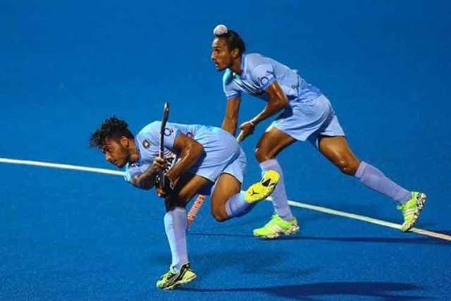 India v Malaysia in Junior Asia Cup in Kuantan, Malaysia, on 15 Nov 2015. India won 5-4. - PHOTO HOCKEY INDIA