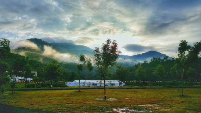 MAGNIFICENT: A view of the Khalsa Land, the SNSM camp site in Kuala Kubu Bharu, that hosted the Annual Gurmat Parchaar Samelan 2015. Seen in the picture are the temporary tents pitched to accommodate the camp.