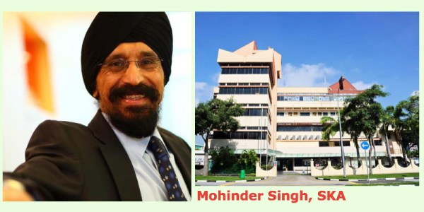Mohinder Singh (left) and the iconic SKA building - PHOTOS / Facebook