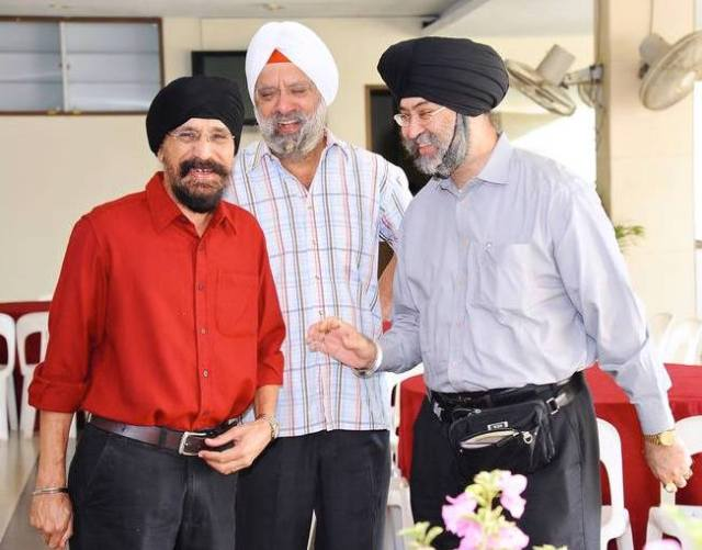 FLASHBACK: Mohinder Singh (left) and Lt. Col (Retd.) Charanjit Singh (centre) at the SKA ground breaking ceremony on 22 Nov 2014 - PHOTO / SKA FACEBOOK
