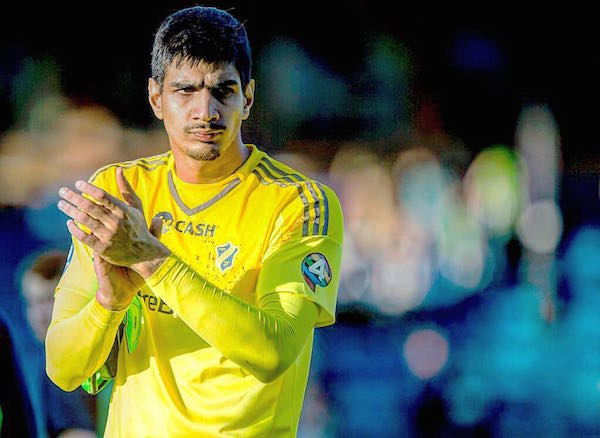 Gurpreet Singh Sandhu fielded by Norwegian side Stabaek FC.