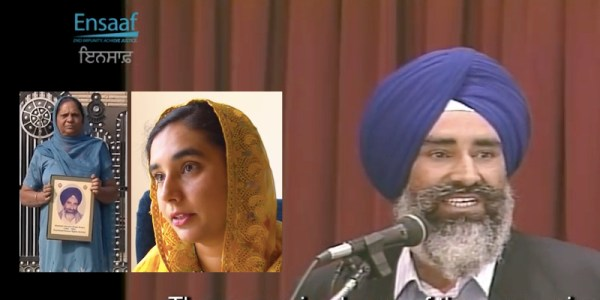 Ensaaf releases video on human rights defender Jaswant Singh Khalra. Among others, it features interviews with his widow Paramjit Kaur Khalra and daughter Navkiran Kaur Khalsa (insert photos) - PHOTO GRABS FROM VIDEO