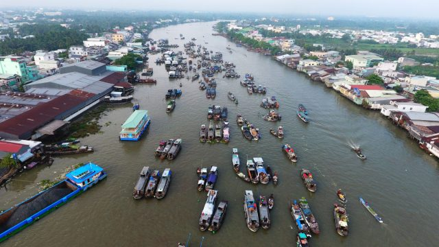 Mekong-Delta-Experience-Cai-Rang-Floating-market-from-drone-1