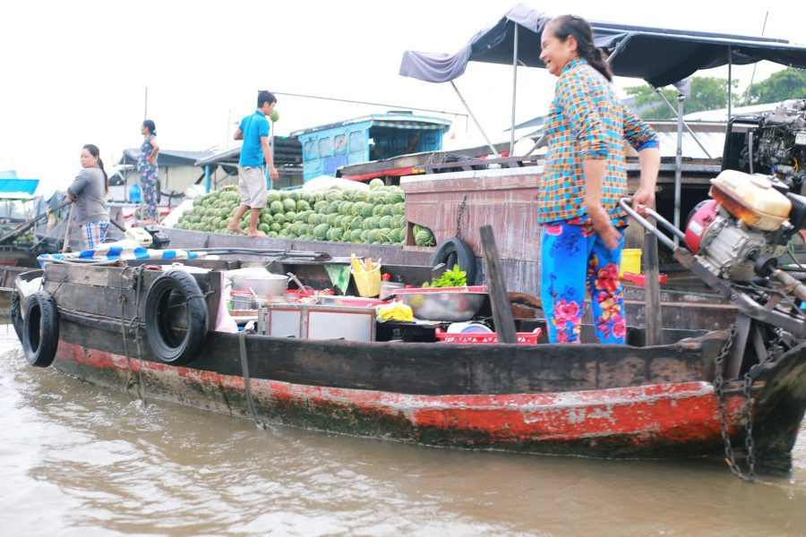 Mekong Delta experience - boat selling watermelon