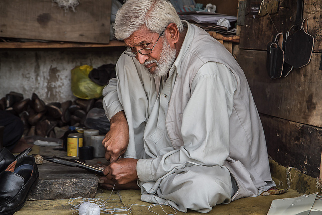 Photo of the Day A Cobbler at His Craft  Asia Society