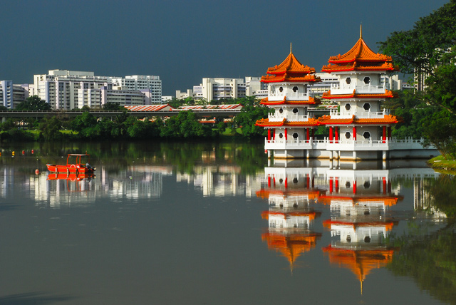 Photo of the Day Vibrant Reflections in Singapore  Asia