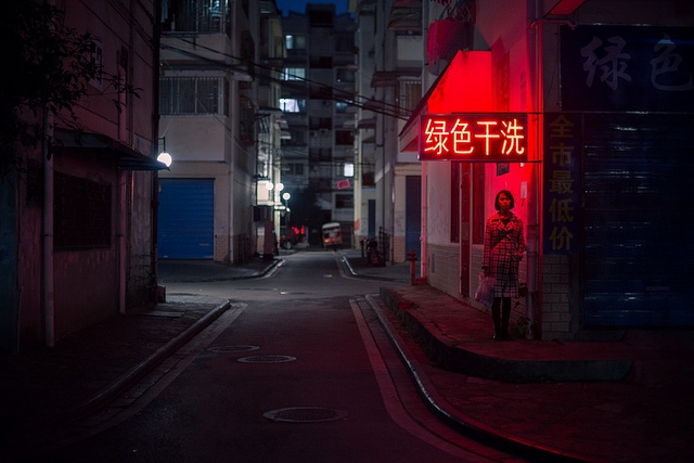 Girl Walking Alone Hd Wallpapers Photo Of The Day Alone On A Street Corner In China Asia