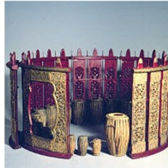 Co Chairs Circle Wall Chair Rail Traditional Burmese Musical Instruments | Asia Society