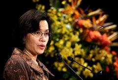 Sri Mulyani Indrawati makes a speech at the International Conference on the Future of Asia in Tokyo May 24, 2013. Photo: Reuters, Toru Hanai