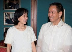 Communist Party of the Philippines' Benito Tiamzon and his wife Wilma Austria Tiamzon, released from prison on August 17, 2016 in order to participate in peace negotiations with the Philippines government in Norway, are seen in Oslo