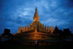 Pha That Luang stupa is seen in Vientiane ahead of the ASEAN Summit