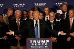 """Republican presidential nominee Donald Trump: """"You lookin' at me?""""  REUTERS/Mike Segar"""