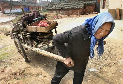 According to the official Xinhua news agency, 70 million people in China still live on incomes of less than US$1 a day. AFP