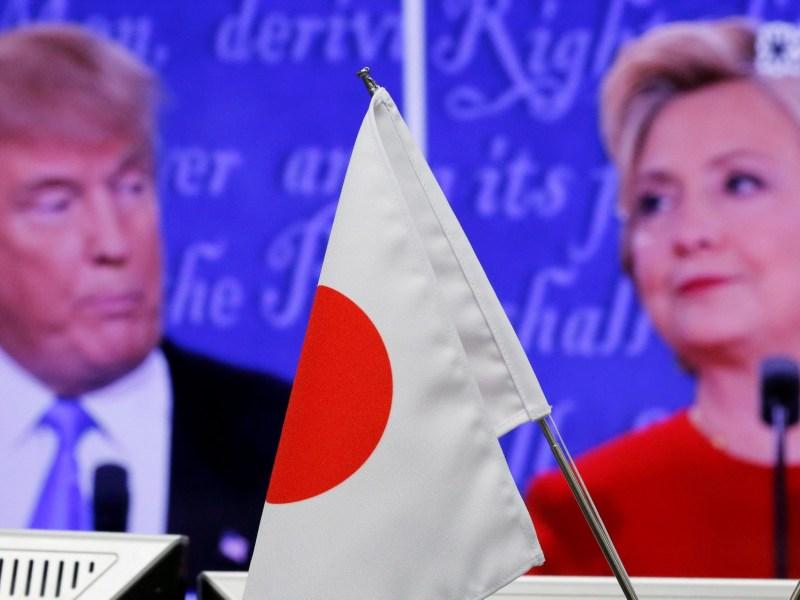 Trump Hillary Japan