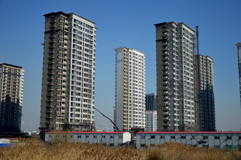 New apartment buildings under construction in Nanjing, Jiangsu province. Reuters/China Daily