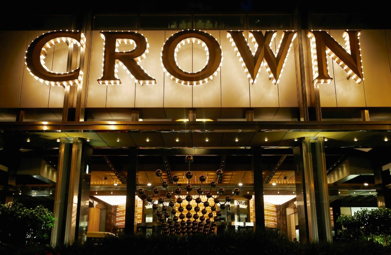 Crown & out: shares in James Packer's casino complex took a hit on news of the Chinese arrests.  Photo: Reuters/Jason Reed