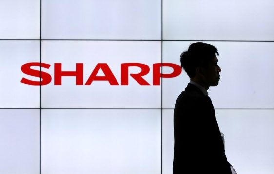 A logo of Sharp Corp is pictured at CEATEC (Combined Exhibition of Advanced Technologies) JAPAN 2016 at the Makuhari Messe in Chiba, Japan, October 3, 2016.   Picture: Reuters/Toru Hanai