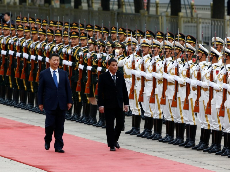 Philippines President Rodrigo Duterte and Chinese President Xi Jinping. Photo: Reuters, Thomas Peter