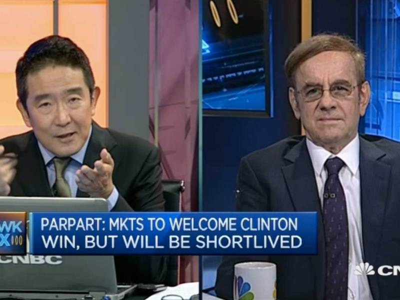 CNBC anchor Martin Soong interviews Uwe Parpart, partner and head of strategy at Capital Link International and editor of Asia Times. Source: CNBC