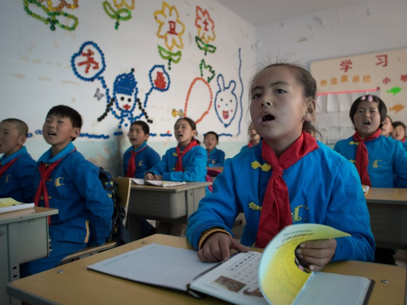 China's nine-year compulsory education system covering primary and middle school must remain free and be non-profit making, according to a law passed by the National People's Congress on Novermber 7, 2016. Photo: AFP/Nicolas Asfouri