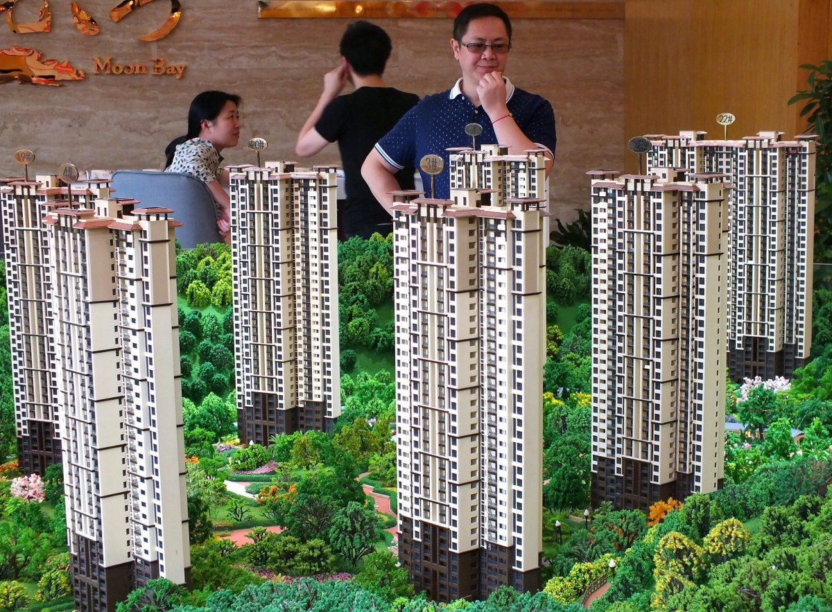 Chinese home buyers visiting a housing fair in Yichang, Hubei province. Photo: AFP
