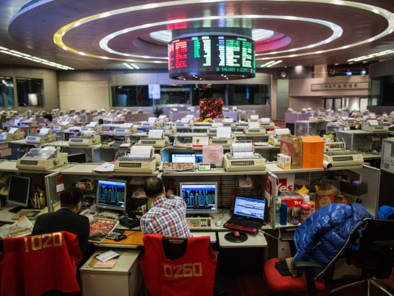 The Hong Kong stock exchange. Photo: AFP / Anthony Wallace