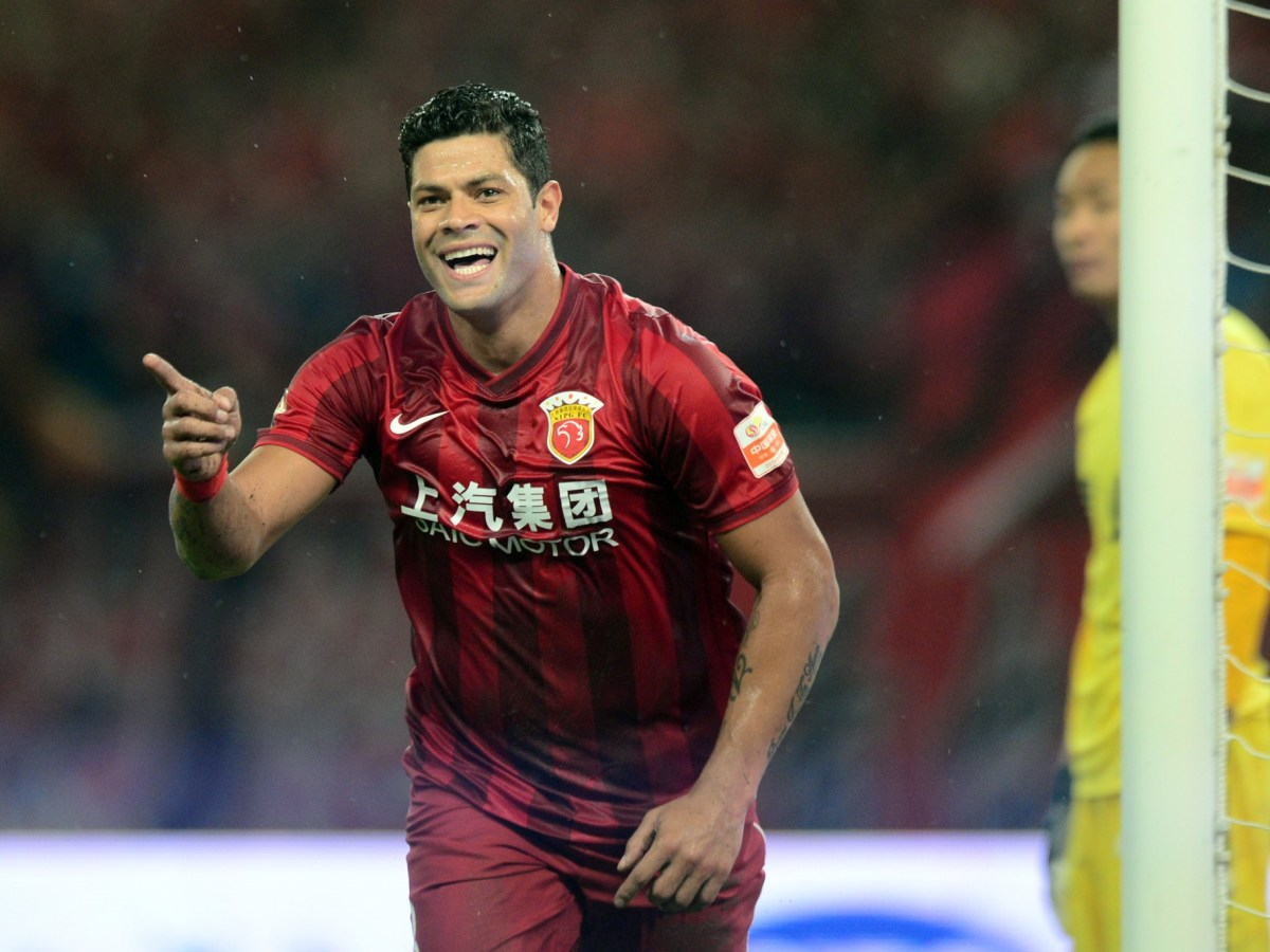 Brazilian footballer Givanildo Vieira de Sousa, better known as Hulk, celebrates scoring one of his four goals for Shanghai SIPG. A new report published in the UK indicates each of those goals cost the club £4m in Hulk's wages alone. Photo: AFP/Cao zichen/Imaginechina