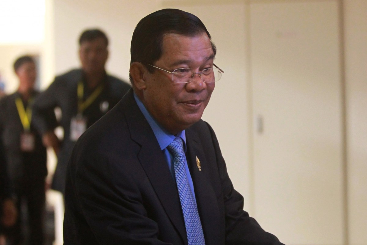 Cambodia's Prime Minister, Hun Sen, says he really wants Donald Trump to win the US presidential election. Photo: Reuters/Samrang Pring