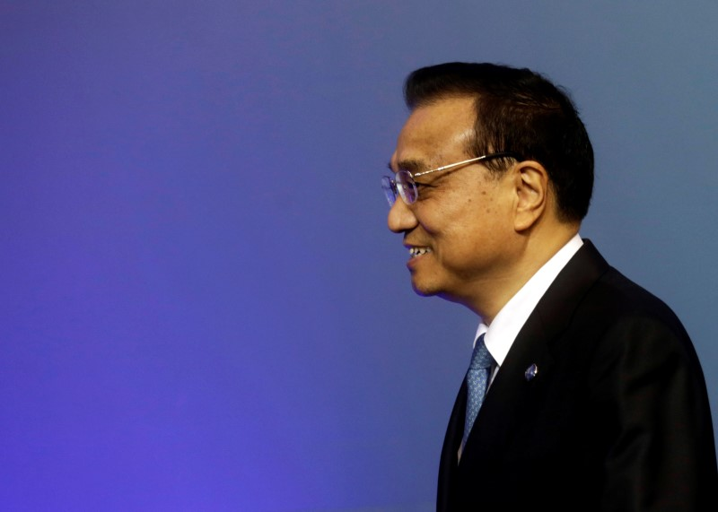 China's Premier Li Keqiang arrives to the meeting of heads of government Central and Eastern European countries and China in Riga, Latvia, November 5, 2016.  Photo: REUTERS/Ints Kalnins