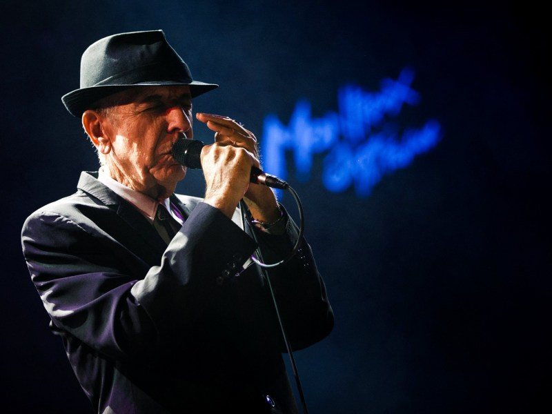 Canadian singer-songwriter Leonard Cohen performs during the first night of the 47th Montreux Jazz Festival in Montreux, Switzerland on July 4, 2013. Reuters/Valentin Flauraud/File Photo