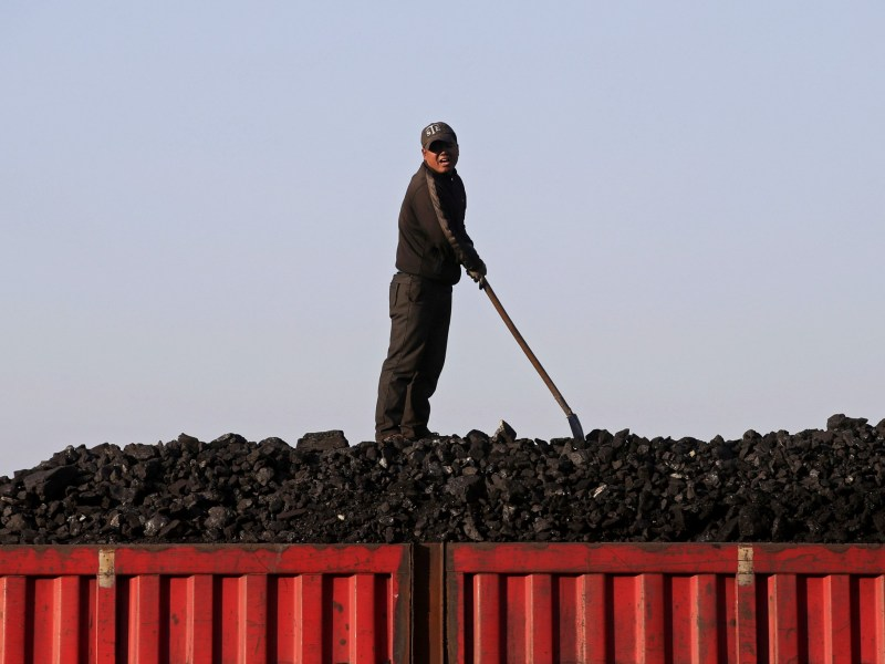 Loading coal in Heilongjiang province. Photo: Reuters/Jason Lee