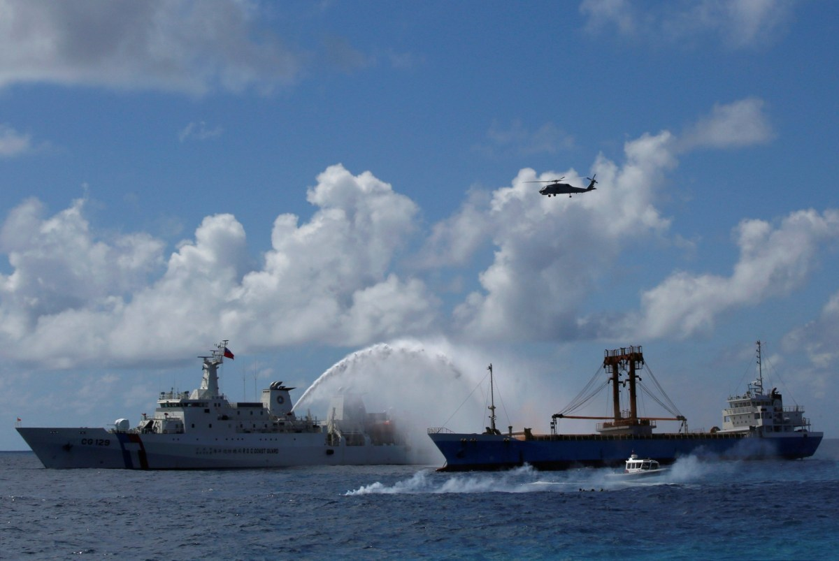China lite: Taiwan drills in the South China Sea have drawn none of the protests from Beijing that activities in the area by other nations might provoke. Photo: Reuters
